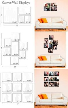 Canvas wall display guides: Could work for framed prints as well by valarie