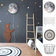 Dit beeld ging viral op Pinterest en dat is meer dan terecht. De wandlamp 'ga slapen, maan!' van @hartendief_com is in het echt NOG mooier…