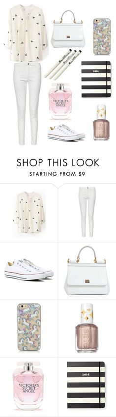 """""""Элеганс"""" by knopa-oksana on Polyvore featuring мода, French Connection, Converse, Dolce&Gabbana, Essie, Victoria's Secret, Kate Spade, women's clothing, women и female"""