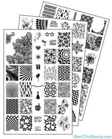 UberChic Beauty Nail Stamp Plates: Collection 6