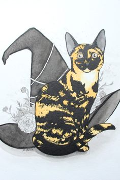 Ink drawing of my cat for the last day of my Inktober 2018 challenge.  Check out my blog to see how it went. Crafts For Kids, Arts And Crafts, Creating A Blog, Inktober, About Me Blog, My Arts, Challenge, Create, Drawings