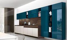 Cucina Verde Petrolio 17 Beautiful Kitchen Designs, Modern Kitchen Design, Beautiful Kitchens, Cool Kitchens, Kitchen Furniture, Kitchen Interior, Modern Interior, Tv Wall Design, Küchen Design
