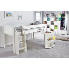 f42c8ef3ee36 Buy Stompa Uno S Plus Mid-Sleeper Bed with Pull-Out Desk Online at  johnlewis.com