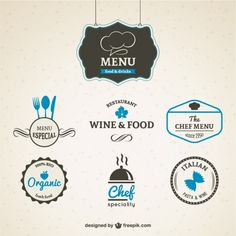 In a coffeehouse and restaurant, a menu is a display or representation of food items and drink choices. Apart from restaurant interior design; Logo Restaurant, Restaurant Menu Template, Vine Logo, Logos Retro, Vintage Quotes, Wine Design, Logo Food, Logo Design Inspiration, Logo Branding