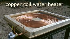DIY Solar Water Heater! - Solar Thermal COPPER COIL Water Heater! - Easy...