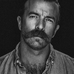 The perfect moustache imho Beards And Mustaches, Moustaches, Beard No Mustache, Beard And Mustache Styles, Mustache Grooming, Hairy Men, Bearded Men, Great Beards, Tiger Tattoo