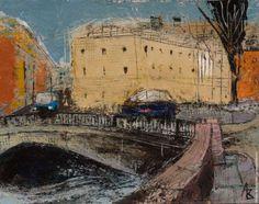 "картина ""Ноябрь.Мост"" А.Волков http://shop.erarta.com/ru/shop/catalogue/pictures/detail/3e3c9ac1-45f1-11e2-a218-8920284aa333/ #erarta #art #november"