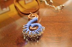 RECYCLED Copper and Computer wire swirl pendant by gr8byz on Etsy, $9.99