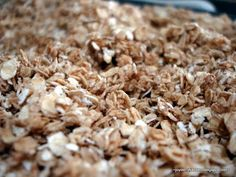 easy Granola recipe...I'd probably add a ton of raisins, craisins, and nuts to it though
