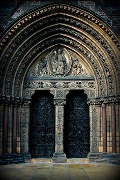 The doors of St. Mary's, Edinburgh, Scotland.