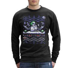 Create Or Destroy Ugly Ugly Ugly Beatle Juice Christmas Men's Sweatshirt