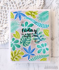We are obsessed with this new tropical leaves stamp set! So many fun uses! https://www.simonsaysstamp.com/product/Simon-Says-Clear-Stamps-TROPICAL-LEAVES-SSS101620-Among-The-Stars-SSS101620?currency=USD