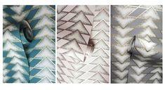 Holden - Great Design Blog Bold Colors, Colours, Wallpaper Companies, Chevron, Product Launch, Textiles, Metal, Simple, Prints