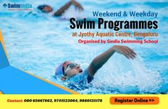 Wonderful Opportunity to Learn Swimming!  Learn to swim at your leisure – on Weekdays or Weekends at Jyothy Aquatic Centre, Bengaluru organized by Sindia Swimming School   Register Online through #SwimIndia http://swimindia.in/jacreg/  Know more @ http://swimindia.in/sindia-swimming-school-to-organise-weekend-and-weekday-swim-programmes-at-jyothy-aquatic-centre-bengaluru