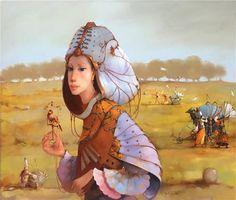 Merab Gagiladze - Bird of Happiness Modern Surrealism, Princess Zelda, Disney Princess, Disney Characters, Fictional Characters, Bird, Georgian, Happiness, Artists