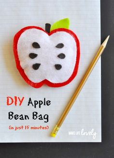 DIY Bean Bag Apple in 15 Minutes - Make Life Lovely