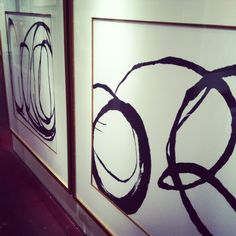 black and white abstract art.  Love the gold inlay on the matte.