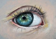 Paint an eye with pastels - a complete tutorial...