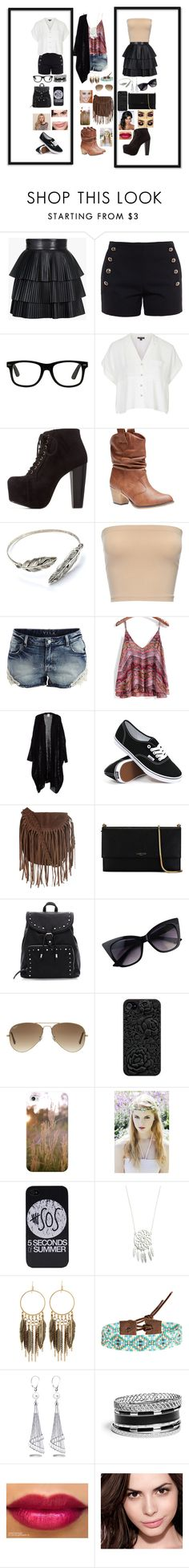 """""""fashion"""" by atreides16 ❤ liked on Polyvore featuring Balmain, Chloé, Topshop, Charlotte Russe, Wet Seal, VILA, Vans, Glamorous, Lanvin and Ray-Ban"""