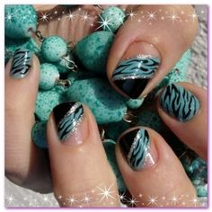 Easy Fashionable New Years 2013 Nail Art Designs To Master will turn your nails into real jewelries. Easy Fashionable New Years 2013 Nail Art Designs To Master are easy yet stylish. Big Nails, New Year's Nails, Love Nails, Gorgeous Nails, Zebra Nails, Teal Nails, Black Nails, Ombre Nail, Diy Ombre