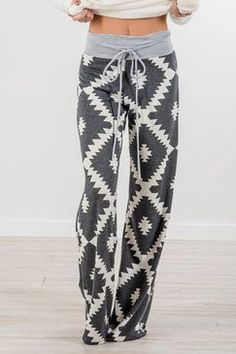 Geo Wide Leg Loungers | Charcoal http://spotpopfashion.com/j61v