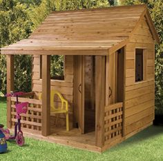 The Cedarshed Play Cabin gives the kids a cute cedar cabin to play in. A long lasting wooden Play Cabin for your backyard. Easy to build and on sale. Cubby Houses, Dog Houses, Play Houses, Build A Playhouse, Playhouse Outdoor, Playhouse Ideas, Corner Sheds, Western Crafts, Cabin Kits