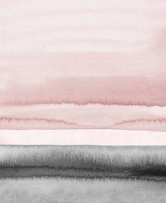Art mural rose et noir lArt abstrait imprimable Rose et Grey Abstract Art, Grey Art, Black Wall Art, Black Walls, Black Art, Blush And Grey, Pink Grey, Blush Pink, Art Abstrait Gris