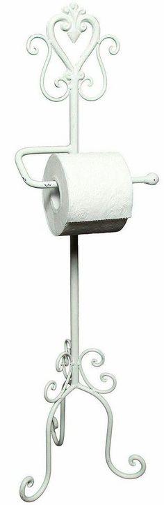 Home affaire Toilettenrpapierständer »Antik«, weiß für 34,99€. Dekorativer Toilettenpapierhalter, Nostalgisches Design in Antik-Optik bei OTTO