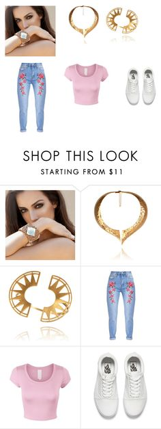 """""""Bez naslova #7"""" by belmma ❤ liked on Polyvore featuring Hera, Vans and blingsense"""