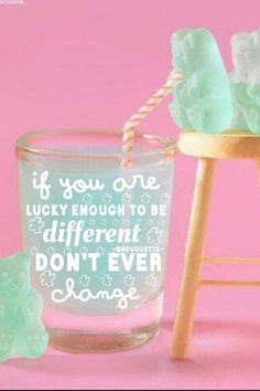 Gummy bear different quote background