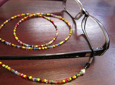 Multicolored Eyeglass Beaded Chain, Glasses chain, Reading Glasses chain, Beaded glasses chain.