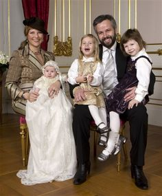 Highness Martha-Louise of Norway, husband Ari Behn, and their daughters, Maud Angelica, Leah Isadora, and Emma Tallulah