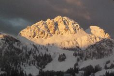 Sunset in the Nassfeld ski region
