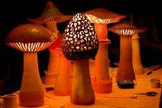 androphilia:Mushroom Ceramic Lamps By Sarah Veron