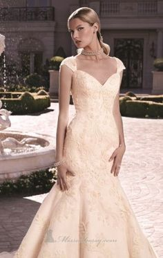 Gossamer Chantilly Lace Gown by Casablanca Bridal 2120