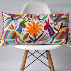 OTOMI PILLOW COVER - MULTI COLOURED POMPOM MADE BY YUCU NINU