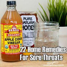 22 Home Remedies For Sore Throats...tis the season!