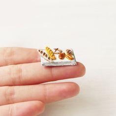Handmade Miniature Bread Miniature Food Dollhouse by ElfiHandmade