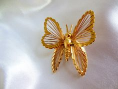Vintage Monet Brooch Butterfly Spinneret from by VJSEJewelsofhope, $10.00