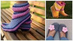 Crochet Booties and Slippers | DIY Adorable UsefulDIY.com Follow Us on Facebook --> https://www.facebook.com/UsefulDiy