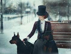 Victorian winter Photo: Margarita Kareva Photographer Designer: Lucie Shestakova Model: Catherine Ryabenko