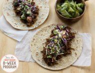 IQS 8-Week Program - Pulled Pork Korean Tacos.  These look delicious. Would love to try this one.