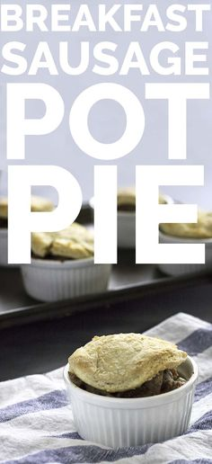 #Vegan Breakfast Sausage Pot Pie, so easy and delicious - verdantcityfood.com