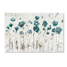 """Trademark Fine Art """"Abstract Balance Blue"""" by Lisa Audit Painting Print on Wrapped Canvas"""