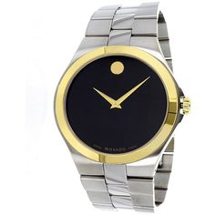 Movado Movado Men's Classic Watch (400458401) (634925 IQD) ❤ liked on Polyvore featuring men's fashion, men's jewelry, men's watches, multicolor, watches, mens stainless steel watches, mens watches jewelry, mens watches, movado mens watches and mens gold tone watches
