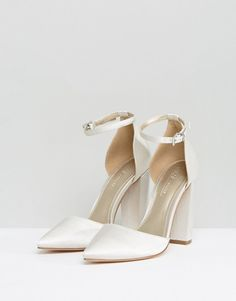 Order ASOS PENALTY Bridal Pointed High Heels online today at ASOS for fast delivery, multiple payment options and hassle-free returns (Ts&Cs apply). Get the latest trends with ASOS. White Wedding Shoes, Wedding Shoes Heels, Bride Shoes, Bridal Heels, White Heels, Strappy Heels, Dream Shoes, Chunky Heels, Me Too Shoes