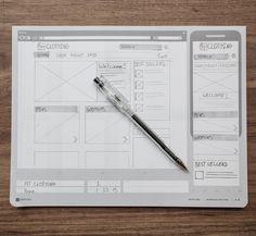 Responsive Sketch Pad by UI Stencils Design Page, Web Design Tips, Ui Ux Design, Design Process, Sketch Design, Graphic Design, Stencils, Sketch Pad, Ui Design Inspiration