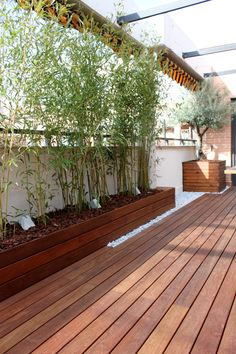 Exterior macetas jardineras on pinterest concrete for Barda de madera para jardin