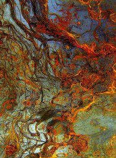 detail of a rusty metal door (I wonder   what alloy rusts so beautifully...) by noa m