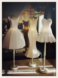 Mannequin lamps ~ Les robes lampes de l'hôtel Maison Moschino à Milan ~ from Vogue Paris ~
